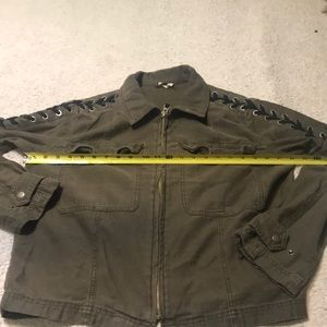 becd2f5266 Free People Jackets   Coats - Free People Faye Cotton Military Lace-Up  Jacket